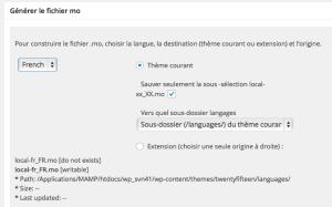 La création du fichier local-fr_FR.mo